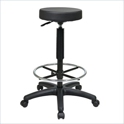 Office Star Pneumatic Drafting Chair Backless Stool