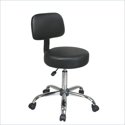 Office Star Pneumatic Drafting Chair with Vinyl Stool and Back