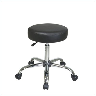 Office Star Pneumatic Drafting Chair Backless Stool with Vinyl Seat