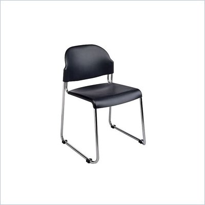 Office Star Plastic Stack Chair with Chrome Frame (2 Pack)
