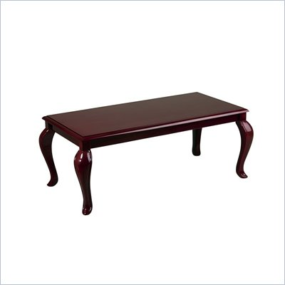 Office Star Queen Ann Traditional Coffee Table in Mahogany Finish 