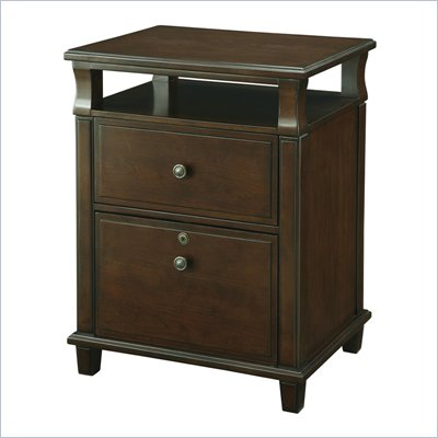 Office Star Yesler Wood Filing Cabinet in Cider Finish