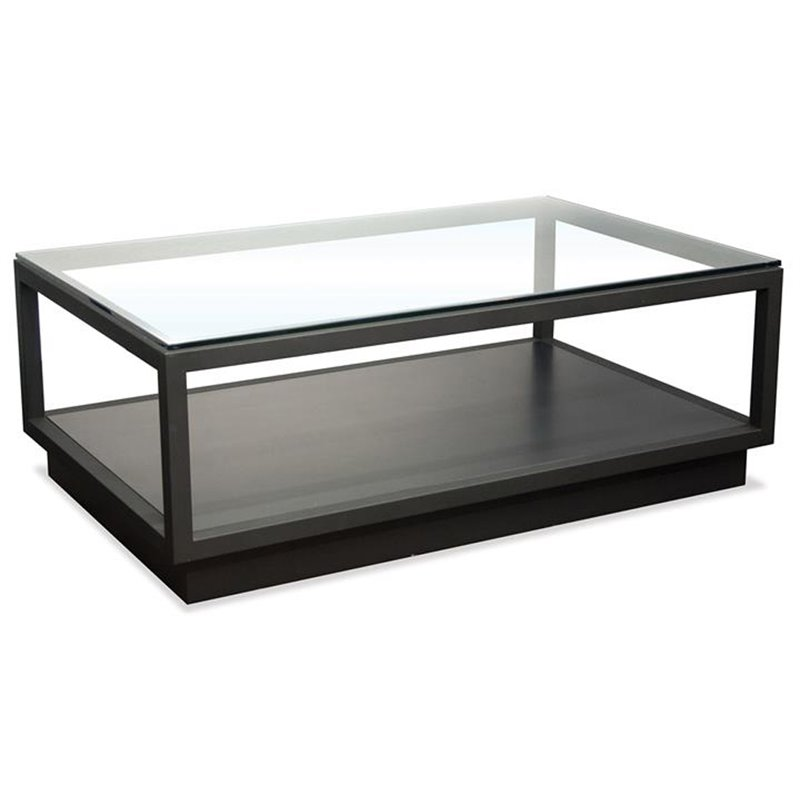 Riverside Furniture Kali Glass Top Coffee Table in Textured Black