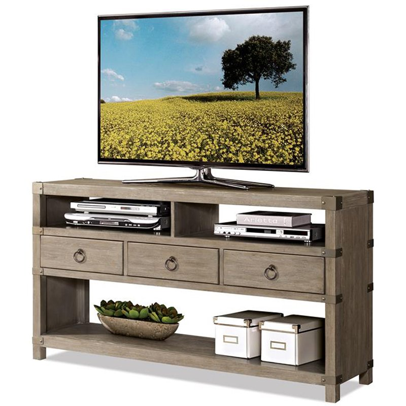 Riverside Furniture Myra 60 TV Stand in Natural