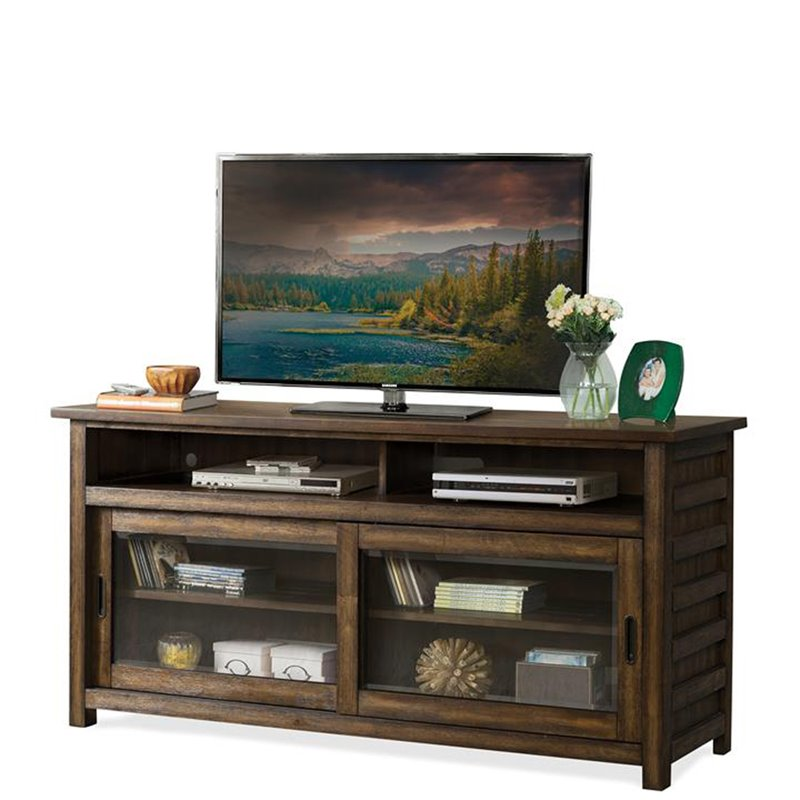 Riverside Furniture Perspectives 64 TV Stand in Brushed Acacia