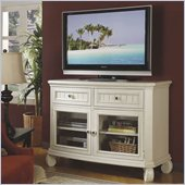 Riverside Furniture Cape May TV Stand in Seaspray White