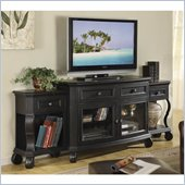 Riverside Furniture Cape May TV Stand with End Units in Bayberry Black