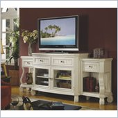 Riverside Furniture Cape May TV Stand with End Units in Seaspray White