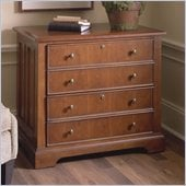 Riverside Furniture American Crossings Lateral File Cabinet in Fawn Cherry