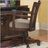 Riverside Furniture Crossings Bankers Desk Chair in Espresso