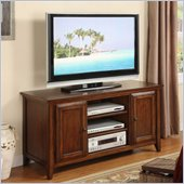 Riverside Furniture Hilborne 52 Inch TV Stand in Burnished Cherry