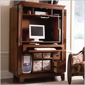 Riverside Furniture American Crossings Computer Armoire in Fawn Cherry