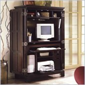 Riverside Furniture Crossings Wood Computer Armoire in Espresso
