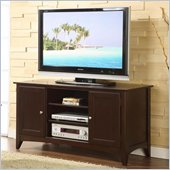Riverside Furniture Metro II 52 Inch TV Stand in Ebony Brown