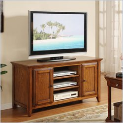 Riverside Furniture Oak Ridge 52 Inch TV Stand in Warm Oak