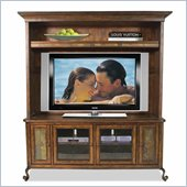 Riverside Furniture Stone Forge TV Stand and Deck in Tuscan Sun