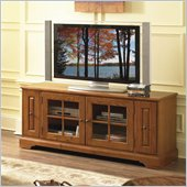 Riverside Furniture Visions 64 Inch TV Stand in Medium Distressed Oak