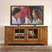 Riverside Furniture Visions 60 Inch TV Stand in Medium Distressed Oak