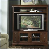 Riverside Furniture Visions 64 Inch TV Stand with Deck in Bordeaux Cherry