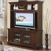 Riverside Furniture Yorktown 60 Inch TV Stand and Deck in Vintage Cherry