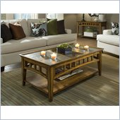 Riverside Andorra Rectangular Coffee Table in Burnished Oak