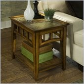 Riverside Andorra Side Table in Burnished Oak