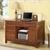 Riverside Furniture Avenue Computer Credenza in Dark Cherry Finish