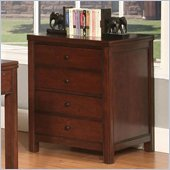 Riverside Furniture Avenue File Cabinet in Dark Cherry Finish