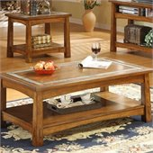 Riverside Craftsman Home Rectangle Coffee Table