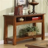 Riverside Craftsman Home Sofa and Console Table