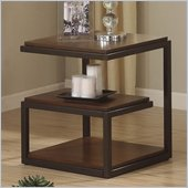 Riverside Furniture Escapade End Table in Sweet Rosy Brown