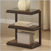 Riverside Furniture Escapade Chairside Table in Sweet Rosy Brown