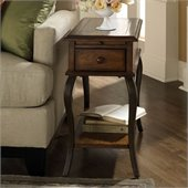 Riverside Serena Chairside Table-Wood Top