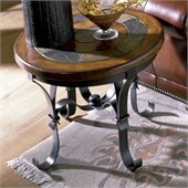 Riverside Stone Forge Round End Table