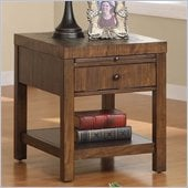 Riverside Furniture Belize Rectangular End Table in Old World Distressed Pine