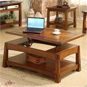 Riverside Craftsman Home Lift-Top Cocktail Table in Americana Oak