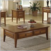 Riverside Furniture Oak Ridge 2 Drawer Cocktail Table in Warm Oak