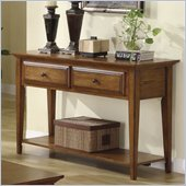 Riverside Furniture Oak Ridge Sofa Table in Warm Oak