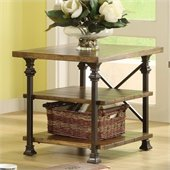 Riverside Lennox Street Rectangular End Table in Landmark Worn Oak 