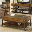 ADD TO YOUR SET: Riverside West End  Drawer Cocktail Table in Heirloom Russet 