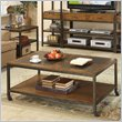 ADD TO YOUR SET: Riverside West End Rectangular Cocktail Table in Heirloom Russet