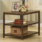 Riverside Furniture West End Rectangular End Table in Heirloom Russet