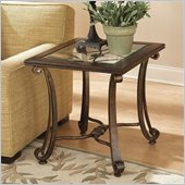 Riverside Furniture Delacourt Rectangular End Table Highlands Cherry