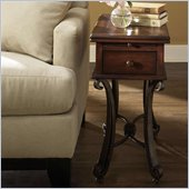 Riverside Delacourt Wood Top Chairside Table in Highlands Cherry