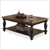 Riverside Delcastle  Cocktail Table in Aged Black/Antique Irish Pine