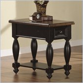 Riverside Delcastle Drawer Chairside Table in Aged Black finish
