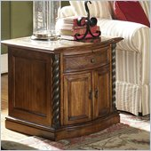 Riverside Medley Door Commode Table in Camden / Wildwood Taupe