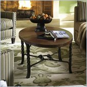Riverside Furniture Medley Oval Cocktail Table in Camden / Wildwood Taupe