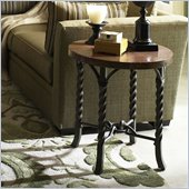 Riverside Furniture Medley Round Lamp Table in Camden / Wildwood Taupe