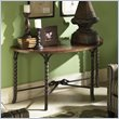 ADD TO YOUR SET: Riverside Medley Demilune Sofa Table in Camden / Wildwood Taupe